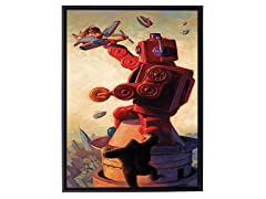 Eric Joyner Robokong Framed Canvas Art