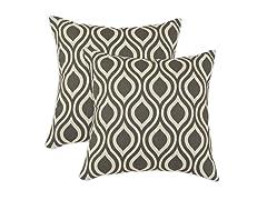 Nichole 17x17 Pillows - Grey - Set of 2