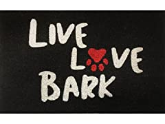Outdoor Mat - Live Love Bark