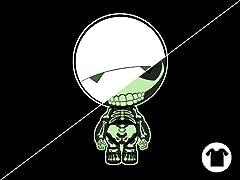 Glow T-shirt: Paranoid Humanoid