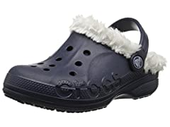 Crocs Baya Plush Lined Clog, Navy/Oatmeal