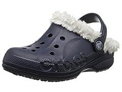 Crocs Baya Plush Lined Clog, Navy/Oatmeal