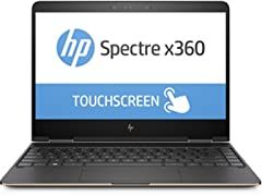 "HP Spectre-X360 Conv Laptop 13""FHD Touch I7 8GB Dark Ash"