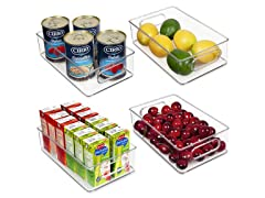 Vtopmart 4-Pack Food Organizer Bins