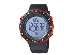Singletrak Black/Red Digital Watch