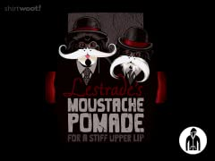 Lestrades Moustache Pomade Jersey Zip Hoodie