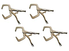 "Yost 11"" Steel Locking C-Clamp (4-Pack)"