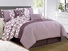 Leila 10 Piece Embellished Comforter Set- 2 Sizes