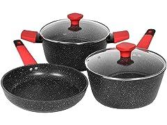 Galaxy Series Granite Nonstick Cookware Set