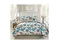 Mk Collection 3pc Bedspread Coverlet