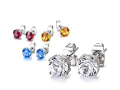 Mestige Zodiac-Colored Crystal Earrings