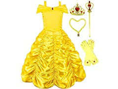 Romys Collection Princess Belle Yellow Party Costume