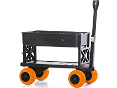 Plus One Garden Cart - Black/Orange Wheels