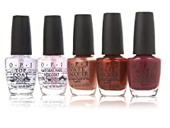 OPI Nail Lacquer and Top Coat, 5-Pack