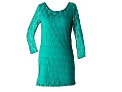 Star Vixen Lace Dress, Jade