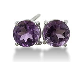 2 Carat Round Gemstone Earrings