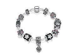Midnight Passion Charm Bracelet