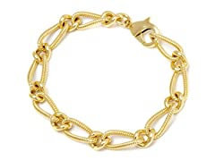 18K Gold Plated 1+1 Open Link Bracelet