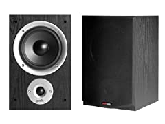 Polk Audio 2-Way Bookshelf Loudspeakers (Pair)