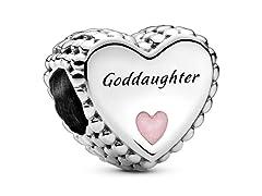 Pandora Goddaughter Heart Enamel Charm
