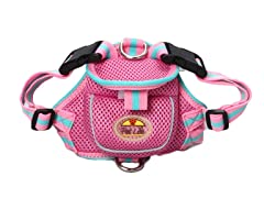 Mesh Harness with Pouch - Pink