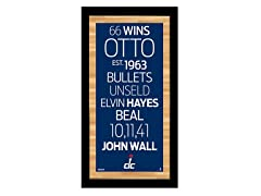"Washington Wizards 9.5"" x 19"" Sign"