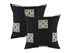 Key Polyester Pillow: Set of 2