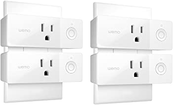 Refurb 4-Pack Wemo F7C063 Mini Wi-Fi Enabled Smart Outlet Plug
