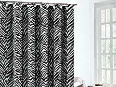 Zeek Fabric Shower Curtain-3 Colors
