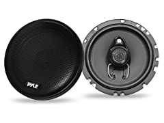 """6.5"""" 200W 3-Way Coax Speakers (Pair)"""