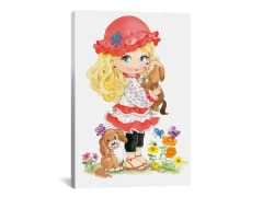 Little Blonde Girl with a Red Hat