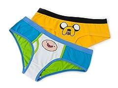 Adventure Time Jake&Finn Hipster Panty 2-Pack