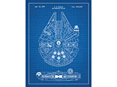 Star Wars Millennium Falcon Screen Print