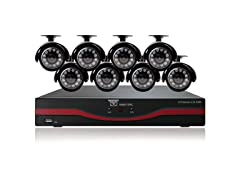 Night Owl 8Ch DVR w/ 500GB HDD & 8 420TVL Cameras