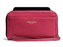 Coach E/W Universal Case Saffiano Leather, Scarlett