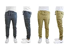 Men's Twill Joggers 2-Pack