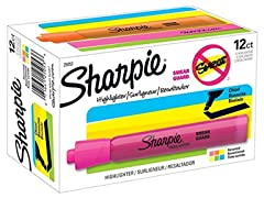 Sharpie 25053 Tank Highlighters- 12-Pack