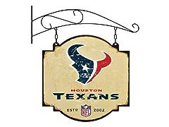 Houston Texans Vintage Tavern Sign