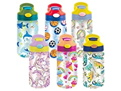 3-Pack Kid's Assorted Water Bottles