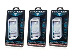Tempered Glass Screen Protector Galaxy S5/6 - 3pk