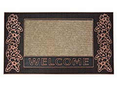 Water Lily Bronze Door Mat