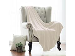Solid Flannel Plush Blanket