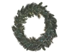 "Snow Pine Wreath 36"" Prelit Clear Lights"