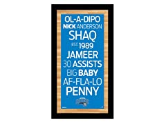 "Orlando Magic 9.5"" x 19"" Sign"