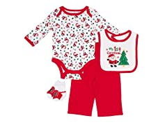 4pc Bodysuit Set - My First Xmas (0-12M)