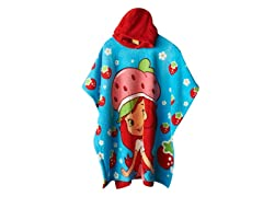 Strawberry Shortcake Hooded Poncho - Youth