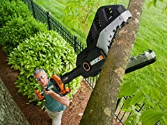 Worx 20-Volt Chainsaw with Extension Pole