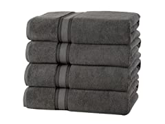 Soft and Thick Zero Twist Bath Towels, 4pk