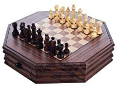 Octagonal Chess and Checkers Set