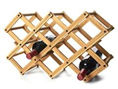 Bamboo 10-Bottle Wine Rack